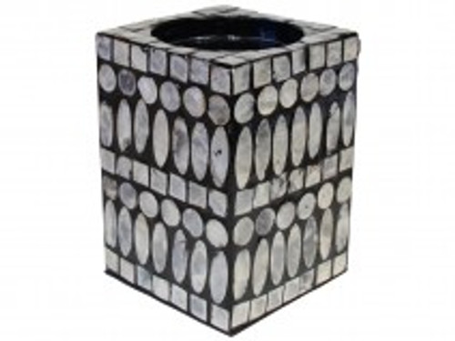 Candle Holder Shell Black sm Approx 14.5 x 10.5