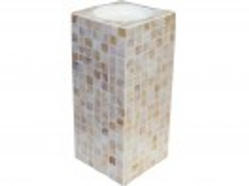 Candle Holder Shell Beige Lge Approx 23.5 x 11.5