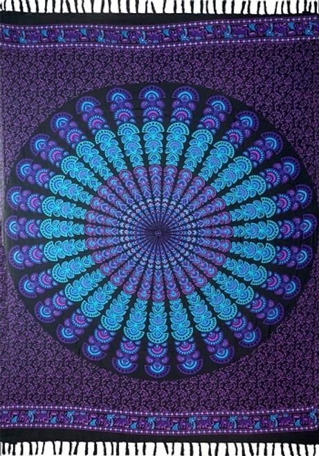 Sarong Mandala Blue