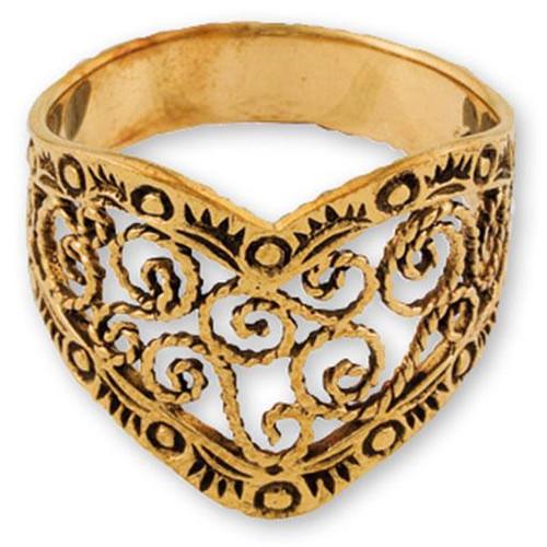 Ring Gypsy Bronze Filigree Size 8