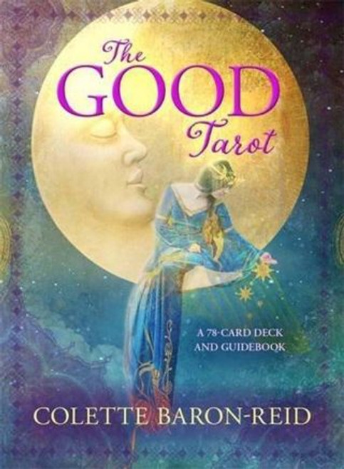 The Good Tarot When Colette Baron-Reid first began doing professional readings almost 30 years ago, she used the traditional tarot as a source of intuitive guidance. Now she has taken the classical form and given it a modern twist, with suits and meanings that are focused on transformation and personal growth.  Grounded in a divination system that dates back centuries, The Good Tarot has a psychic architecture that's more simple and modern, rooted in contemporary positive psychology and aimed at the expression of the highest good for all. The 78 cards in the deck are read as archetypal aspects of the human experience that we may encounter within ourselves, with others, or in the world. The suits in The Good Tarot are the four elements, with Air standing in for the traditional Swords, Water replacing Cups, Earth for Pentacles, and for Wands, Fire. A crucial difference from traditional decks is that the cards' messages are all written as positive affirmations in the present tense, rather than forecasts, instructions, or warnings. Those who use the cards in the suggested way can integrate their energy immediately and personally.  Even so, traditional tarot enthusiasts can still apply their favourite spreads to this deck as its formation doesn't stray too far from what is already familiar, and the breathtaking original artwork will be sure to inspire.  Everyone wants guidance during times of uncertainty, a light shining in the dark, Colette writes. The Good Tarot is especially helpful when you feel lost, want confirmation about a direction you're heading in, are concerned about the results of choices you've made, or seek greater understanding of your circumstances. It's about recognizing the many forms of truth and seeing the light that accompanies the shadow so you can help the light increase its brilliance.