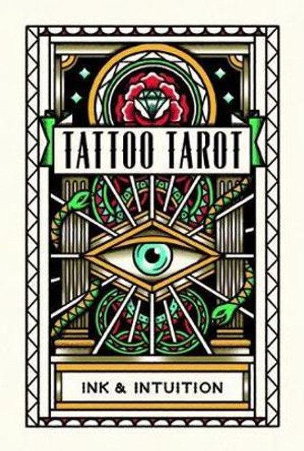 Tattoo Tarot : Ink & Intuition This beautifully illustrated set of fully functional tarot cards is based on traditional tarot iconography as interpreted by MEGAMUNDEN, author of Tattoo Postcards and the best-selling Tattoo Colouring Book.  The set contains the 78 cards of the tarot deck, luxuriously packaged in a gift box. A 28-page booklet explains how to interpret the cards and conduct your own readings, gaining a fascinating insight into what lies ahead and a fresh perspective on important themes and opportunities to watch for.