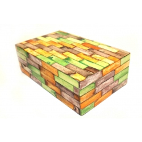 Bone Box Multi Coloured Approx 23x15x8cm