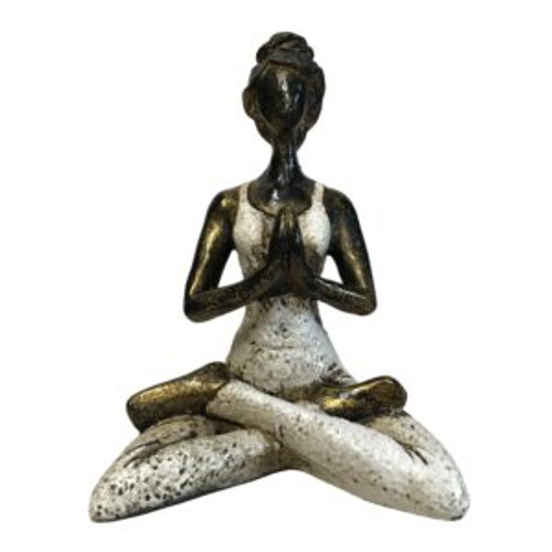 Yoga Girl White (23x17cm)