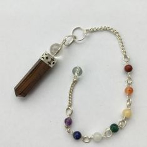Pendulum Tourmaline/Clear Quartz with Chakra stones