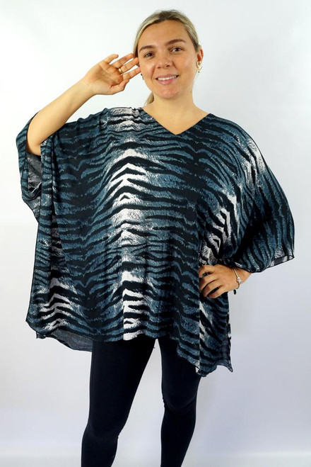 SD Kaftan Wild Grey Free size to 20