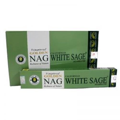 Golden Nag Incense White Sage