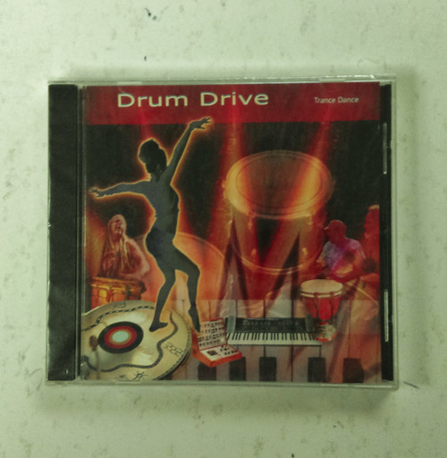 "Drum Drive by Trance Dance. ""Extra long play album to keep you going with drums, percussion, shakers, bells and whistles. These moving rhythms will get you lost in trance inducing bliss. Make some noise, bang on something! Destress, have fun, let your hair down, strut your stuff, drive yourself nuts, go bananas?"""