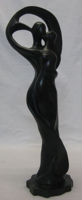 Couple Black Large  Handcrafted from solid resin Approx 42x14cm