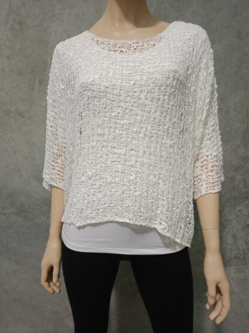 PAR Bubble Knit Top White Fits up to 16-18
