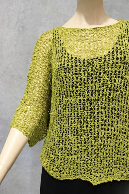 PAR Bubble Knit Top Green Fits up to 16-18