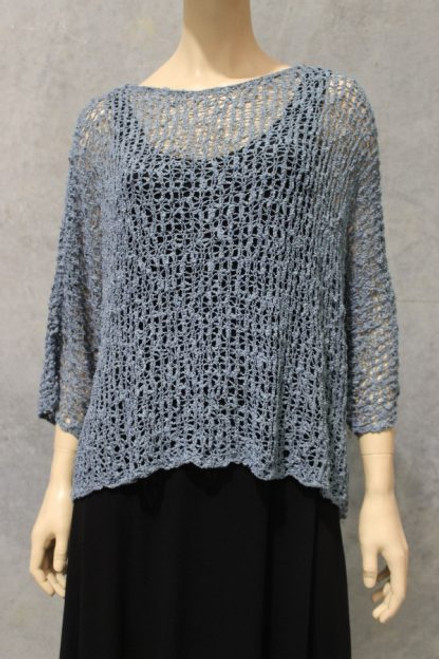 PAR Bubble Knit Top Grey Fits up to 16-18