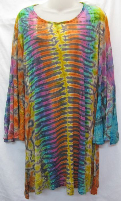 TH Tye Dye Tunic Pastel 100% Stretch Cotton Fits 10-14