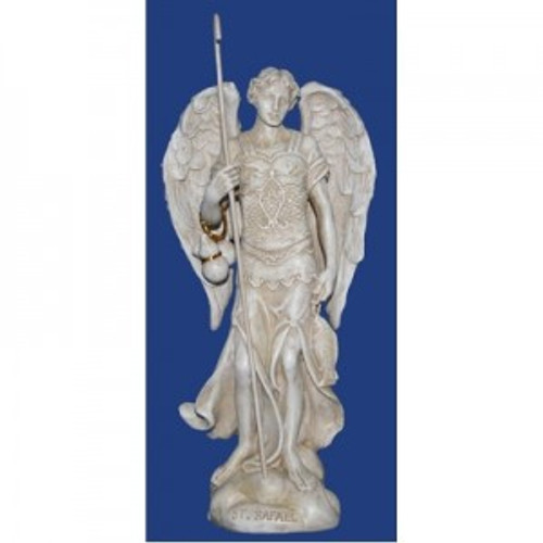 Archangel Raphael. The healer, brings clarity & spirituality. Approx 12cm high. Made from polyreisen