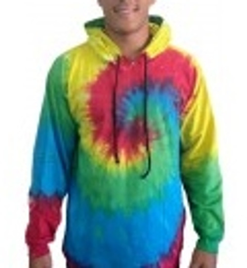 Tye Dye Rainbow With hoodie, 100% cotton
