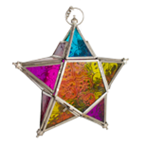 Star T-lite Candle Holder Rainbow. Looks amazing lite up or just hanging