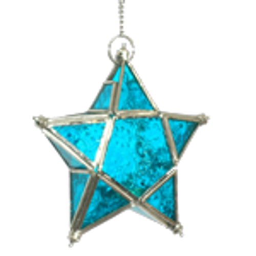 Star T-lite Candle Holder Turquoise. Looks amazing lite up or just hanging