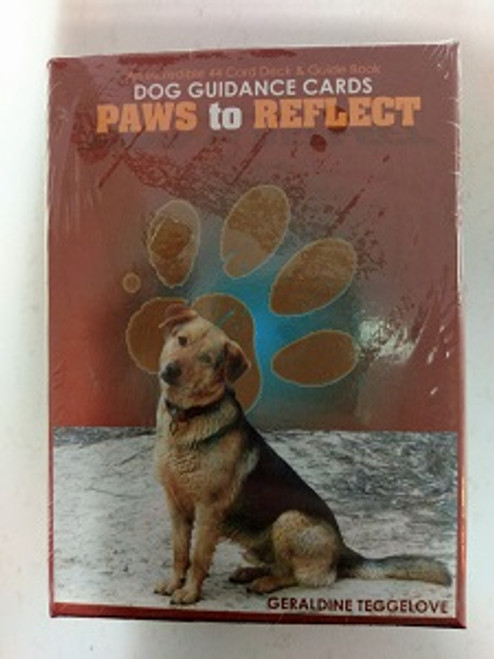 Paws to Reflect. By Geraldine Teggelove.  These cards are a powerful tool in creating abundance of happiness & success with inspiring messages. These cards are recommended to those who connect with love to animals or for anyone needing love following loss.