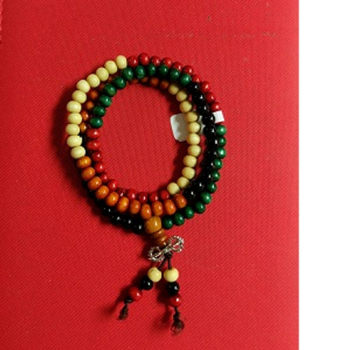 Wooden Mala Beads Wear as a necklace or as a layered bangle