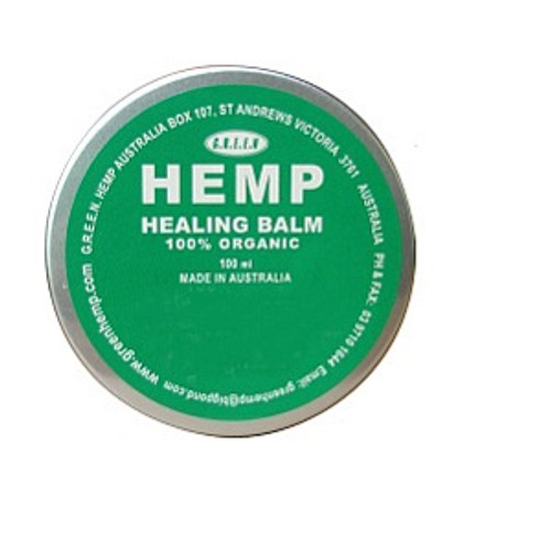 Healing Balm 100g Organic & 100% Natural, Chemical free. Hemp Seed Oil and Organic Beeswax. A soothing healing skin balm.