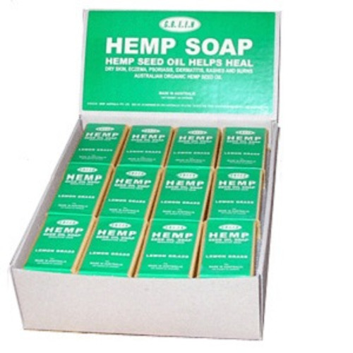Hemp Seed Oil soaps are moisturising, creamy and soft on sensitive skin. Orangutan friendly. Certified Palm Oil is used in all our soaps. Choose from the refreshing scent of Lemongrass, The relaxing scent of Lavender or the no scented natural soap. 100ml