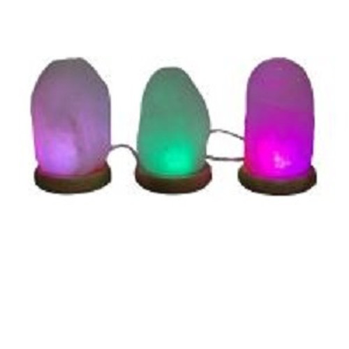 USB Salt Lamp Natural Colour changing. Approx  8.5 x 10cm