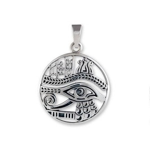 Sterling Silver Pendant Eye of Horus Approx  2cm