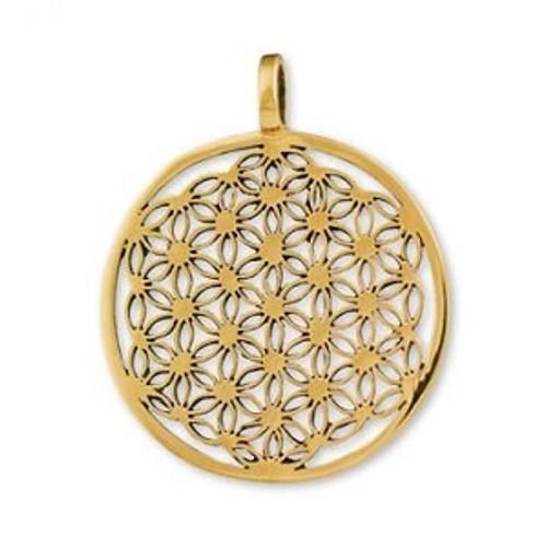 Gypsie Bronze Pendant Flower Of Life Approx 3.5cm