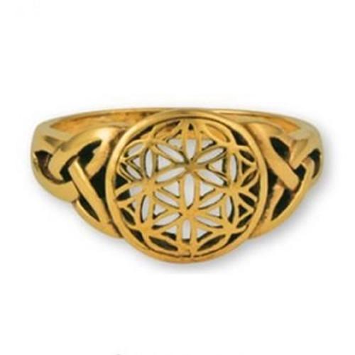 Gypsie Bronze Ring Flower Of Life Size 9