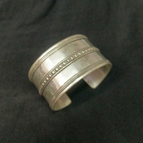 Indian Silver Bangle Double Cuff