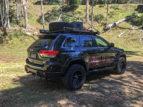 wk2 roof rack with camping gear