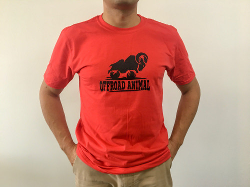 Offroad Animal T Shirt Red front