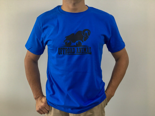 Offroad Animal T-Shirt Blue Front