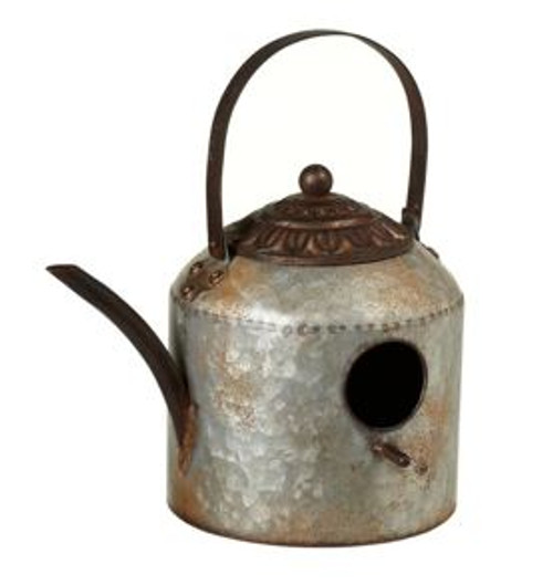 Galvanized Kettle Birdhouse