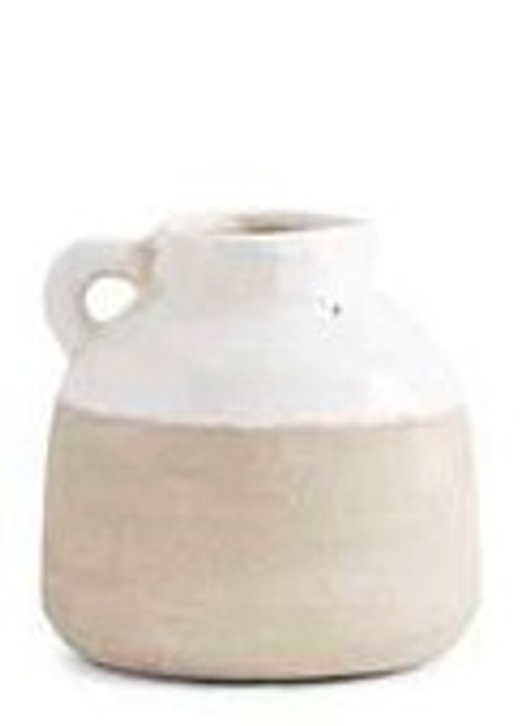 Ceramic Pot with Cream Glaze 3
