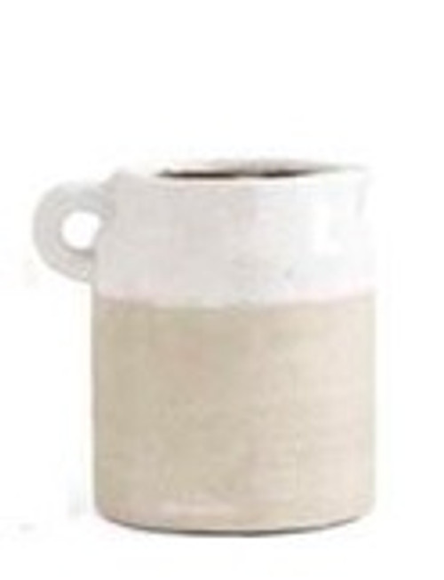 Ceramic Pot with Cream Glaze 4