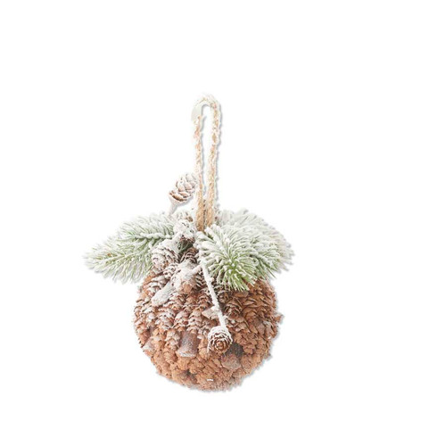 Ornament - Snowy Pineneedle Ball