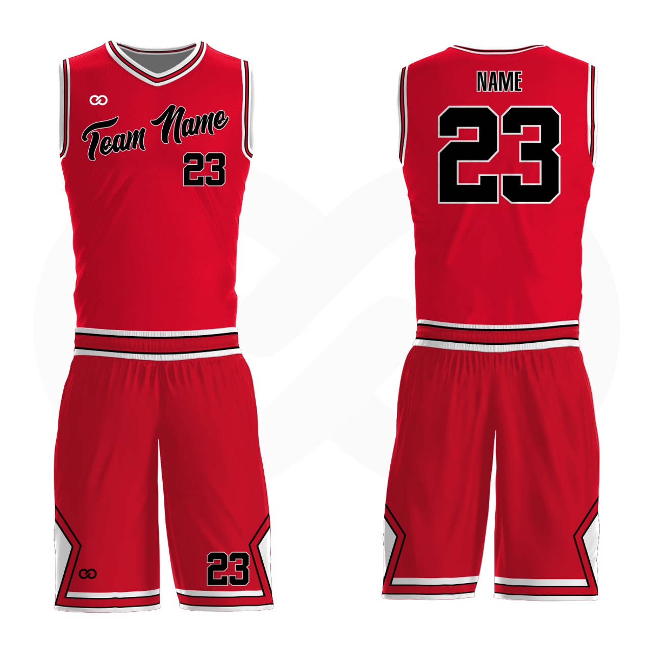 f6f906148f24 Bulls - Custom Basketball Uniform Full Set