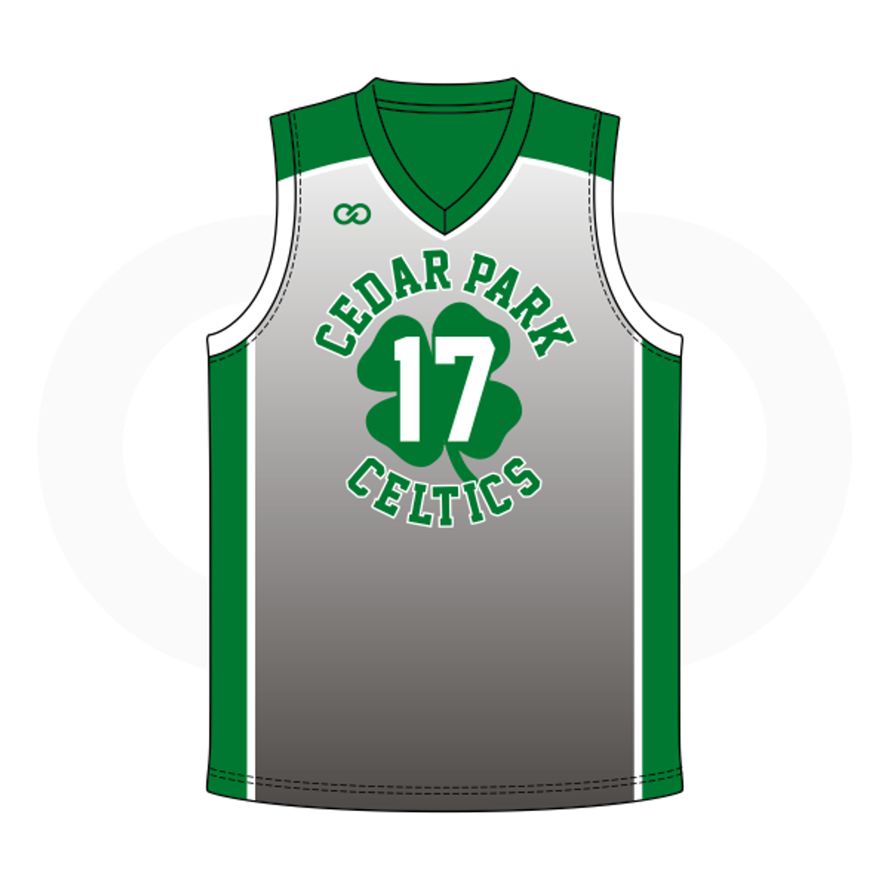 half off 22563 a5c71 Cedar Celtics Basketball Grey Jersey