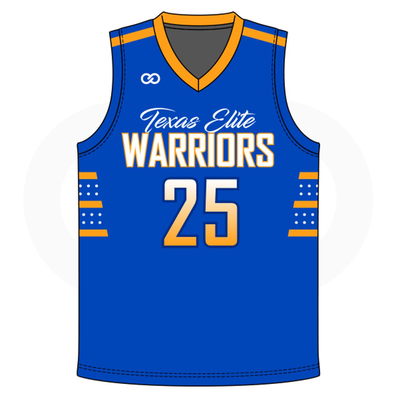 online retailer 0b959 10cfc Texas Elite Warriors Basketball Jersey - Blue