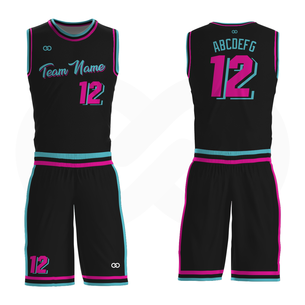 outlet store 83a57 38df3 Miami Vice - Custom Basketball Uniform Full Set
