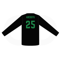 Northridge Hustle Basketball Long Sleeve Shooting Shirt - Black