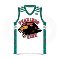 Fearless Elite Basketball Jersey - White
