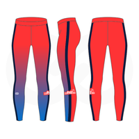 Basketball Beauties Compression Tights - Warm Red