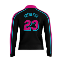 Miami Vice Warmup Jacket - Black