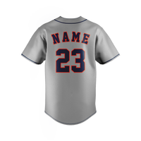 Grey Navy Red Baseball Jersey