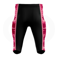 Breast Cancer Awareness Football Pants - Black