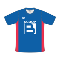 Scoop B - T-Shirt - Blue and Red