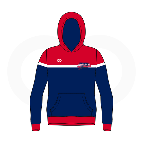 Connecticut Hockey League Hoodie - Navy & Red