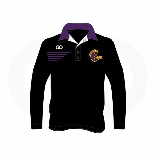 Undertow Field Hockey Long Sleeve Polo Shirt